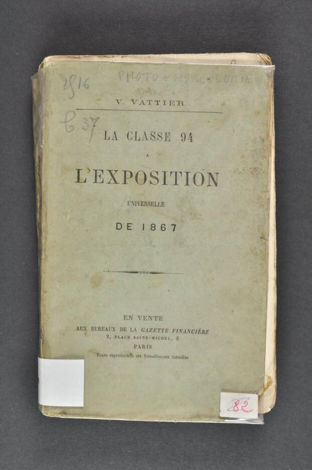 """livre-imprimé - """"La classe 94 à l'Exposition Universelle de 1867"""""""