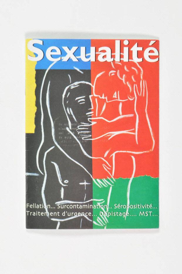 """BROCHURE - """"Sexualité / Fellation... Surcontamination... Séropositivité... Traitement d'urgence... Dépistage... MST.."""