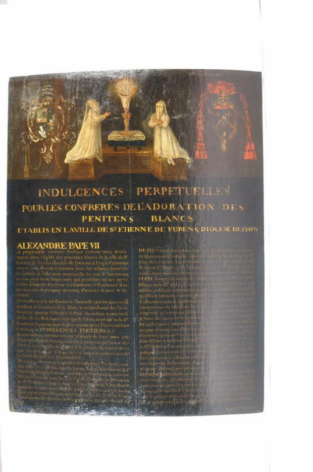 tableau - Confrérie des pénitents blancs de Saint-Etienne
