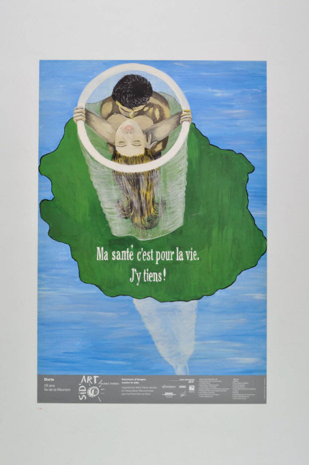 """affiche - """"Ma santé c'est pour la vie, j'y tiens"""" / Sid'Art océan Indien"""