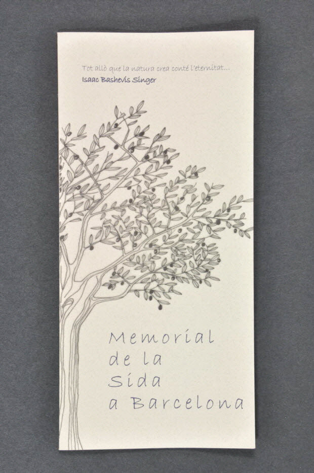 """Dépliant - """"Memorial de la sida a Barcelona"""""""