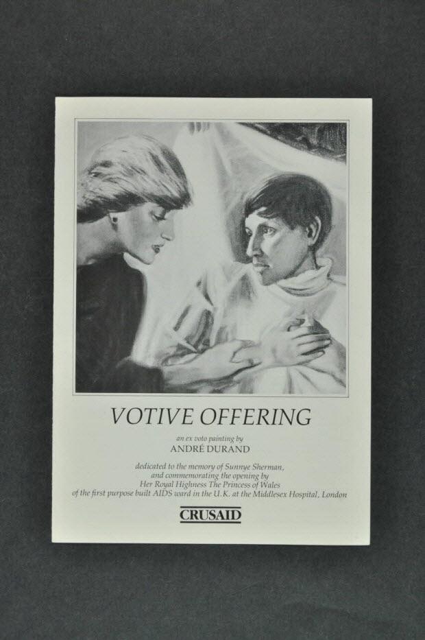 "Dépliant - ""Votive offering"" (Offrande votive)"