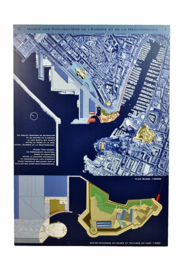 panneau - Projet du concours d'architecture pour le Mucem J4