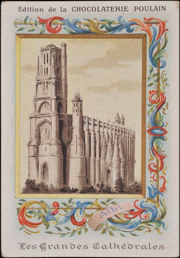carte réclame - Les Grandes Cathédrales Albi