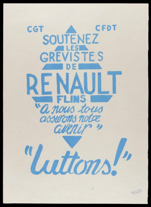 affiche - Soutenez les grévistes de Renault Flins