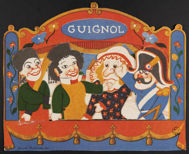 estampe - Théâtre de Guignol.