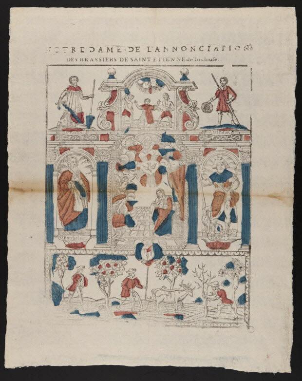 imagerie ancienne - NOTRE DAME DE L'ANNONCIATION DES BRASSIERS DE SAINT ETIENNE De Toulouse.