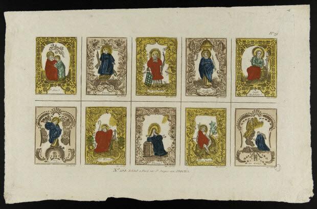 estampe - Planche de Saints