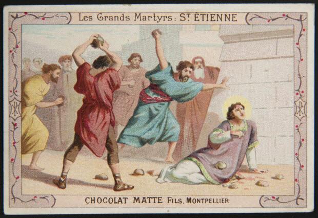 carte réclame - Les Grands Martyrs : ST. ETIENNE