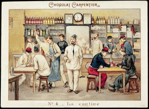 carte réclame - AU REGIMENT N°4 _ La cantine