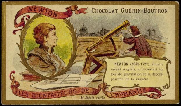 carte réclame - LES BIENFAITEURS DE L'HUMANITÉ NEWTON