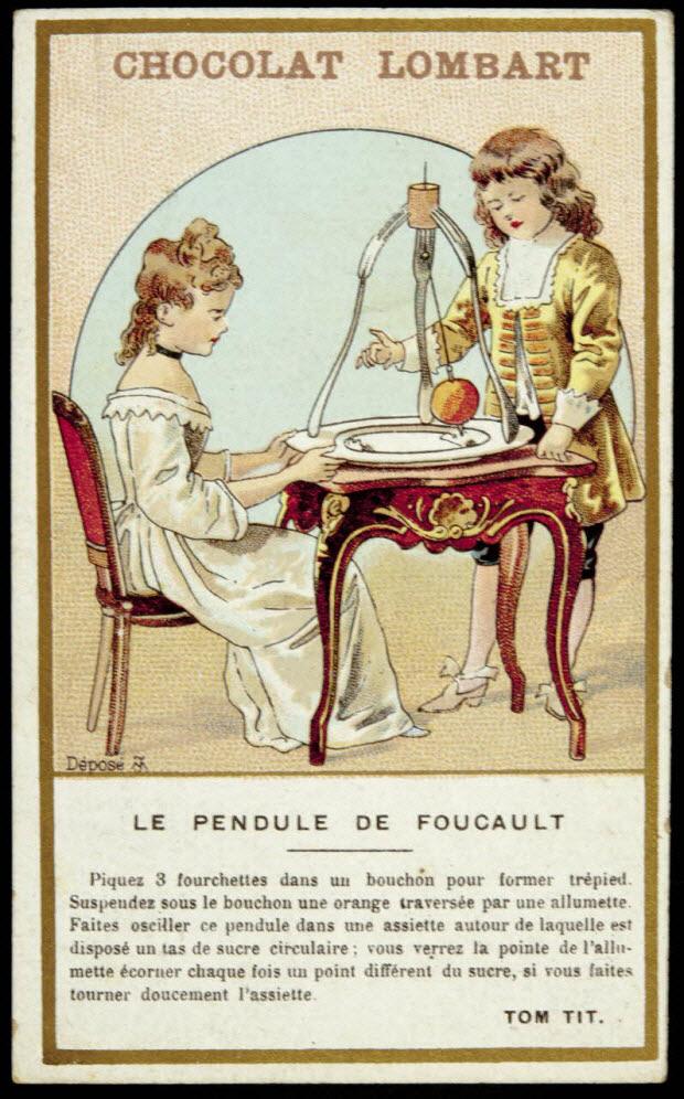 carte réclame - LE PENDULE DE FOUCAULT