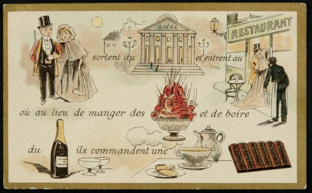 carte réclame - Rébus