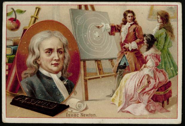 carte réclame - Isaac Newton