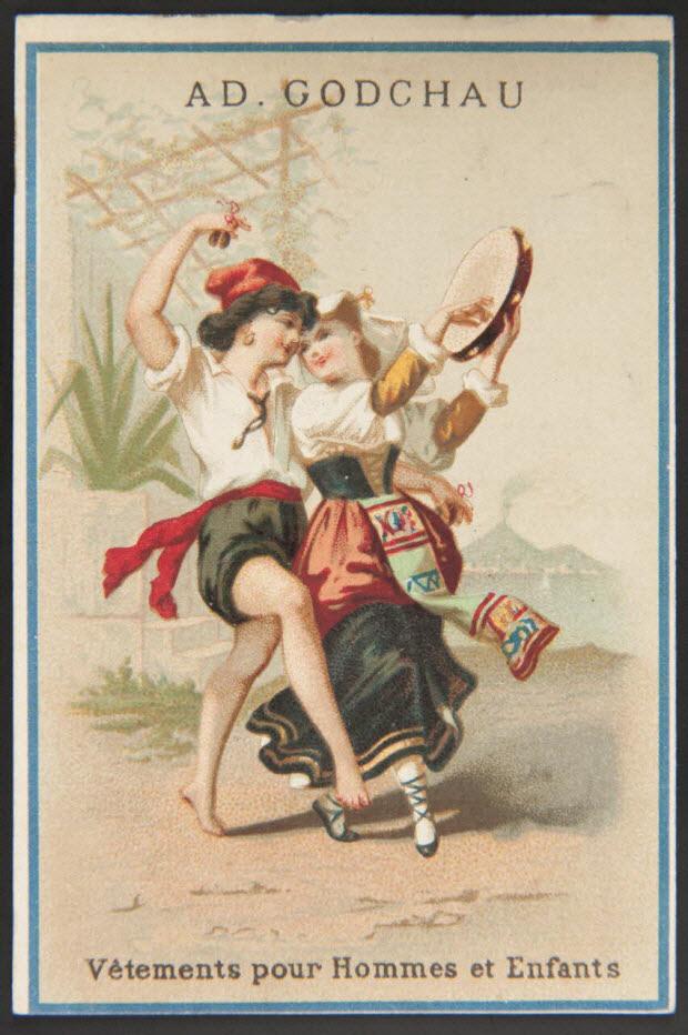 carte réclame - Danse italienne