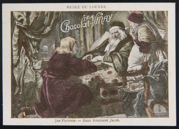 carte réclame - MUSEE DU LOUVRE JAN FICTOOR. - Isaac bénissant Jacob.