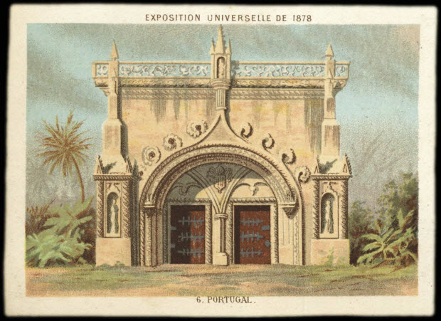 carte réclame - EXPOSITION UNIVERSELLE DE 1878 6. PORTUGAL.
