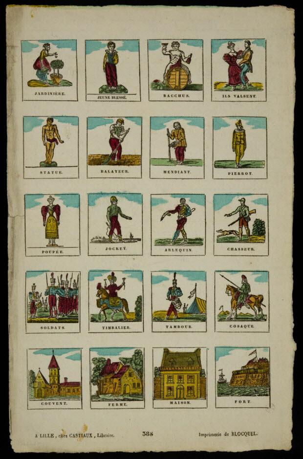 imagerie ancienne - Figures et vues d'architectures
