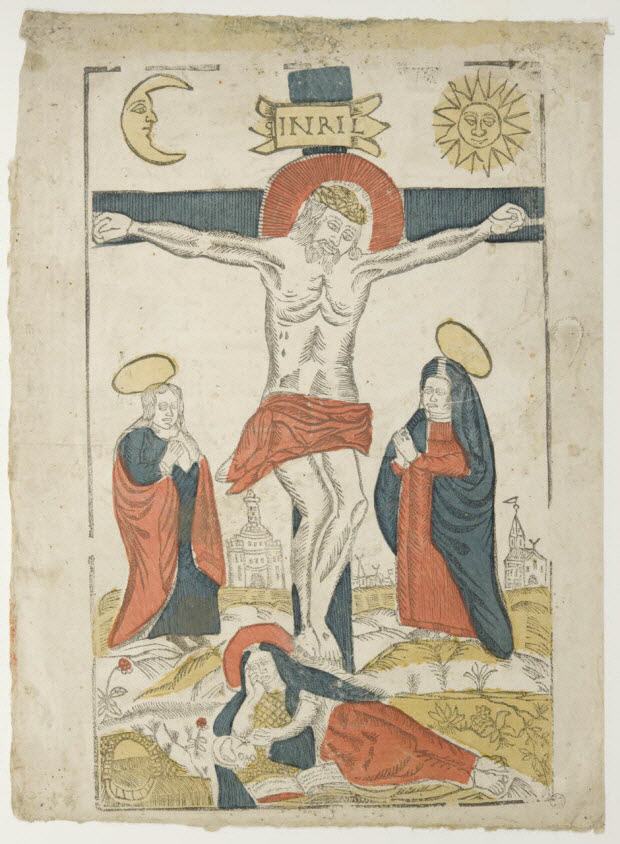 estampe - Christ en croix