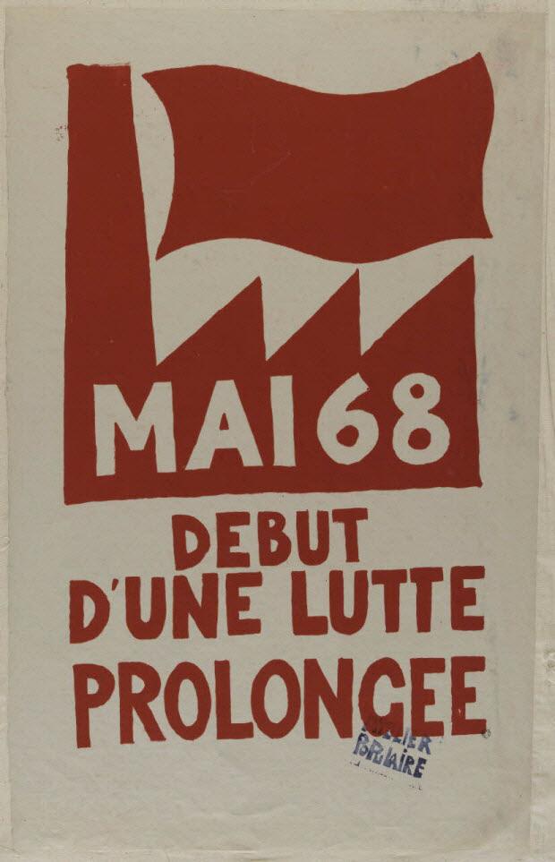 affiche - Mai 68 début d'une lutte prolongée