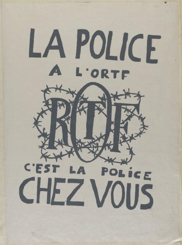 affiche - La police à l'ORTF c'est la police chez vous