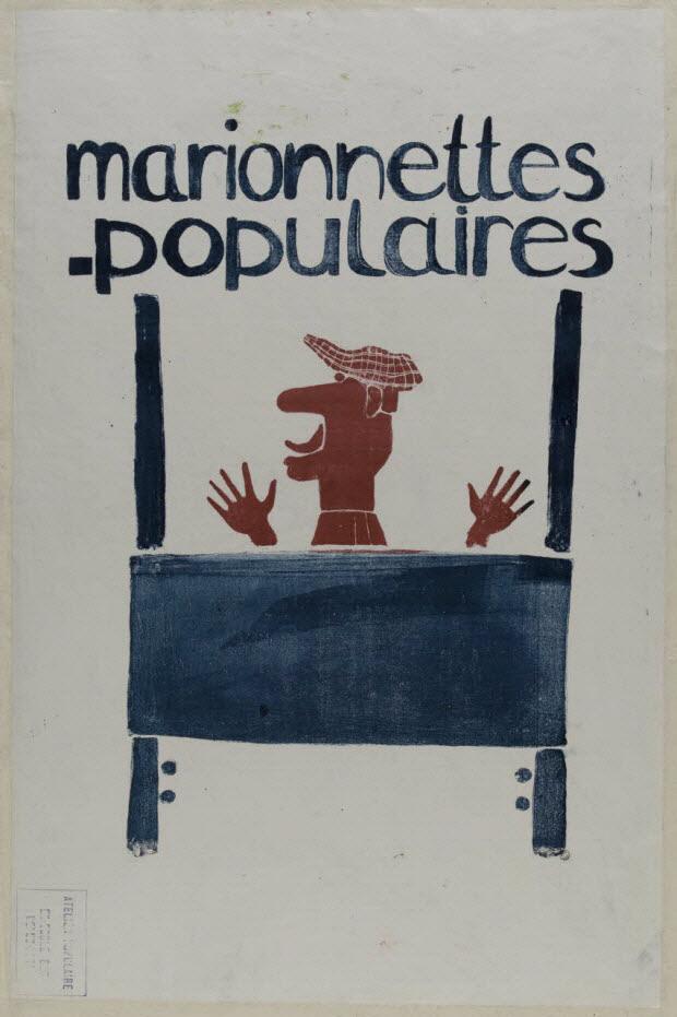 affiche - marionnettes populaires