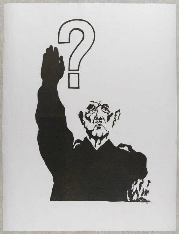 affiche - Le général De Gaulle effectuant un salut nazi