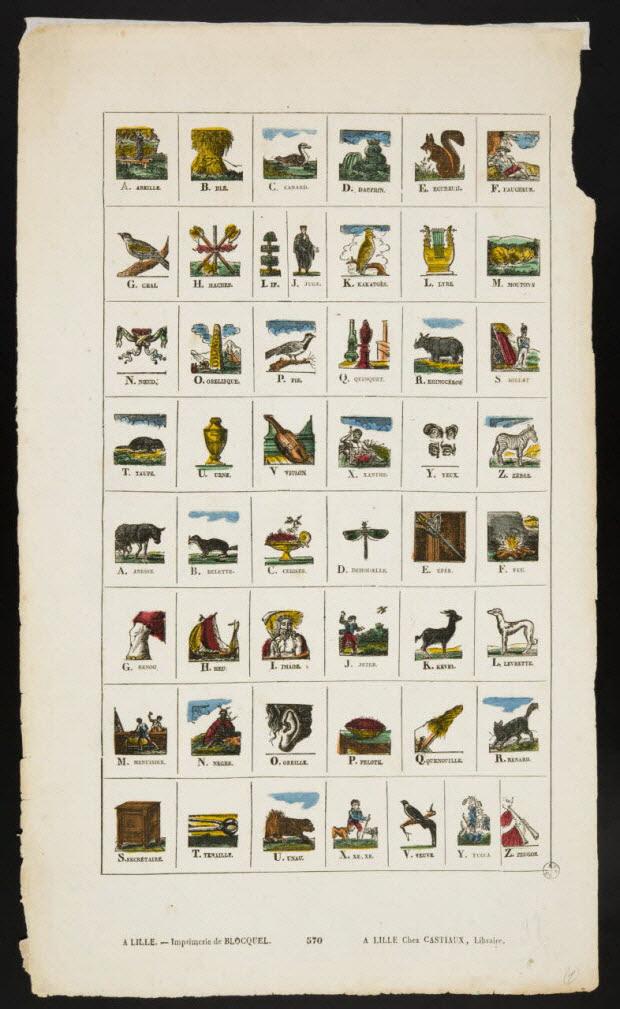 imagerie ancienne - Alphabet illustré