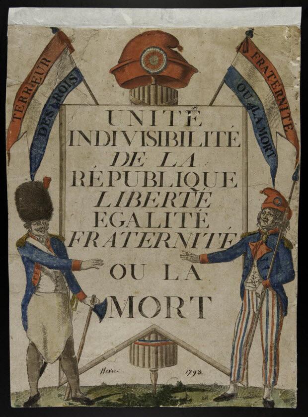 imagerie ancienne - Unité Indivisibilité de la République Liberté Egalité Fraternité ou la Mort