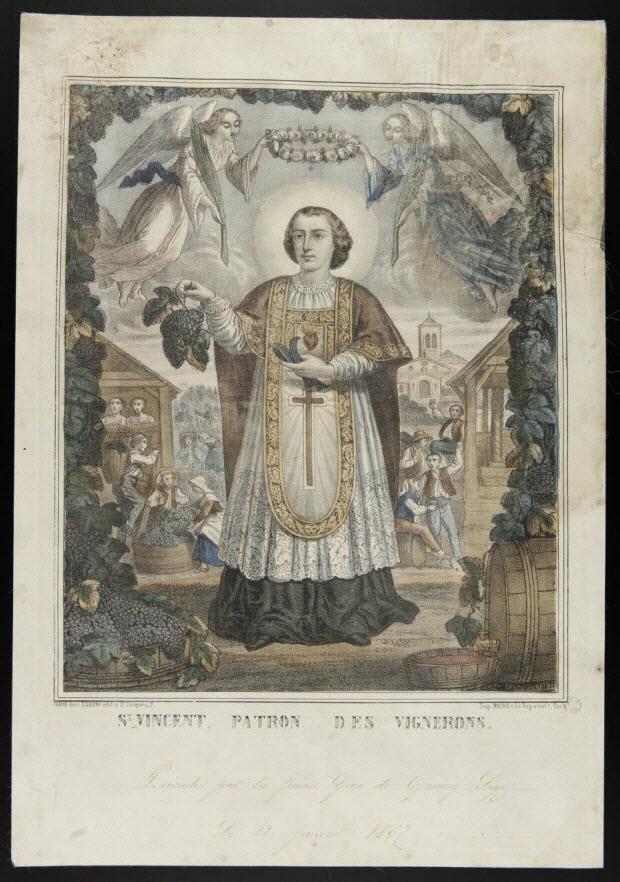estampe - St. VINCENT PATRON DES VIGNERONS.