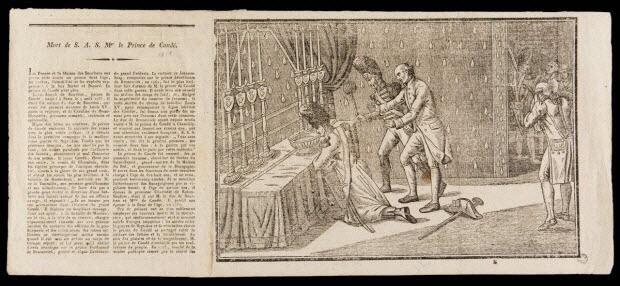 estampe - Mort de S. A. S. Mgr le Prince de Condé.