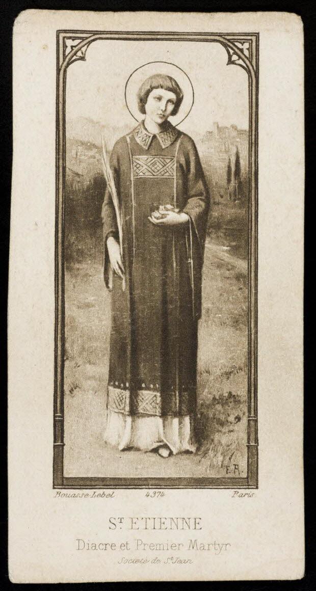 image pieuse - ST ETIENNE Diacre et premier Martyr