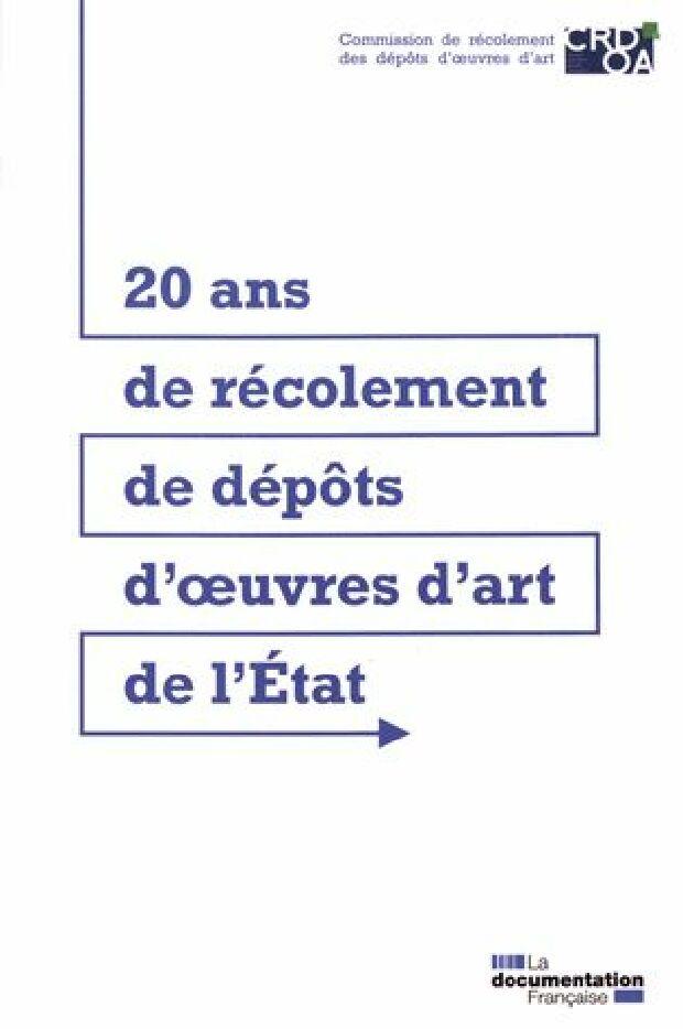 Livre - 20 ans de récolement de dépôts d'oeuvres d'art de l'État