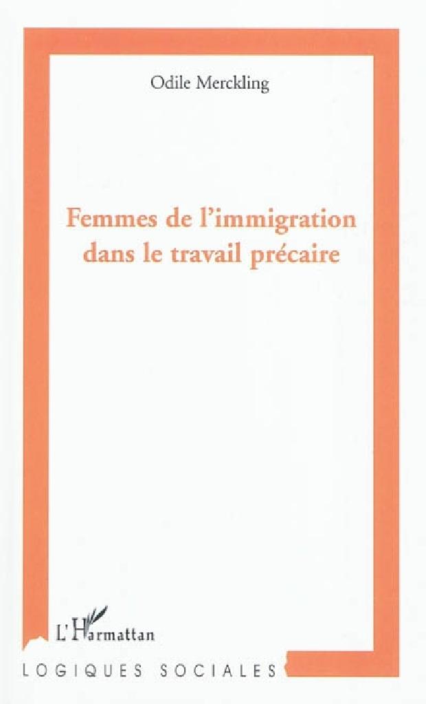 Livre - Femmes de l'immigration dans le travail précaire