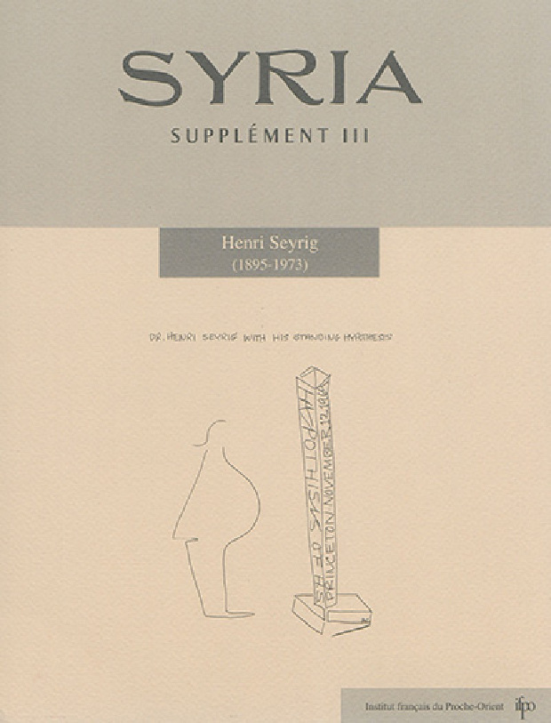 Livre - Henri Seyrig (1895-1973)