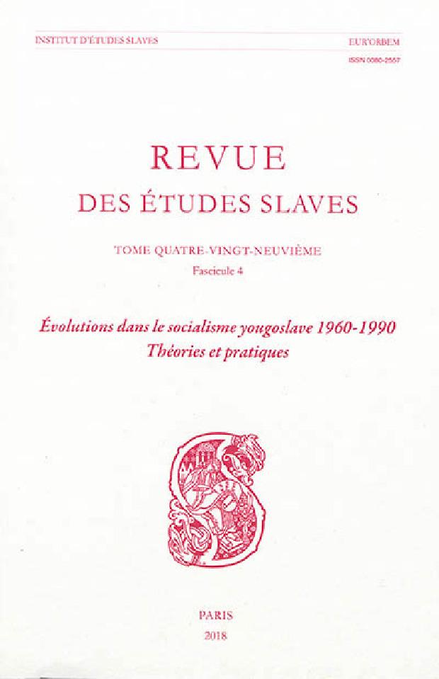 Livre - Revue des Études Slaves