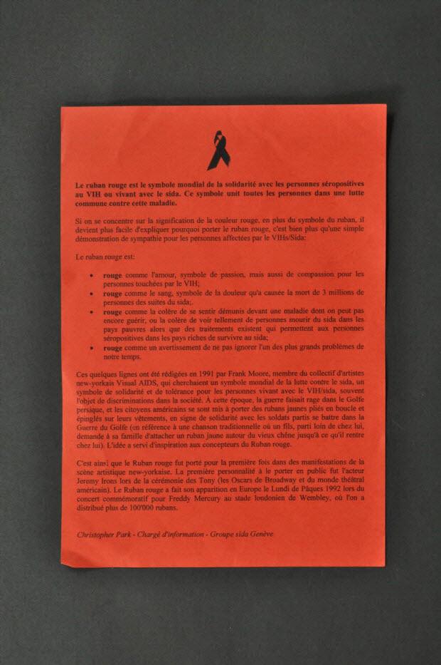 TRACT - Texte explicatif sur le ruban rouge