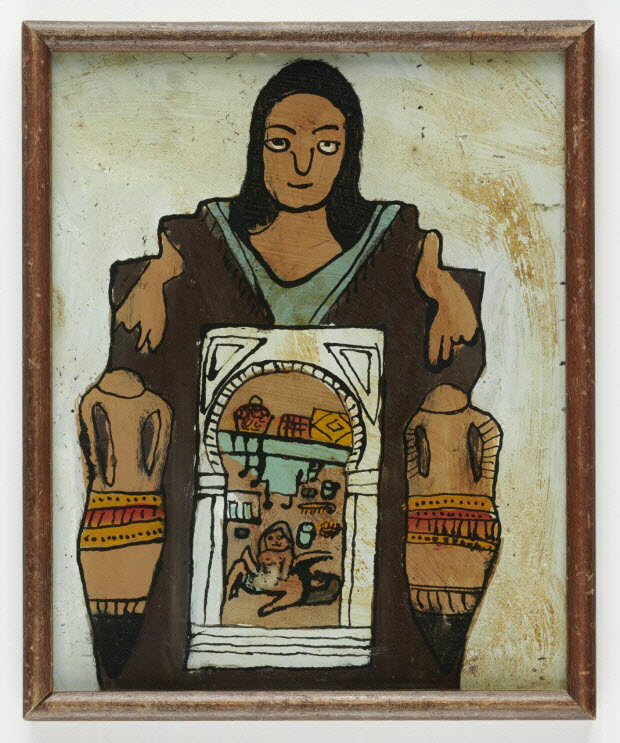 peinture sous verre - Hammam, le ventre de la mère