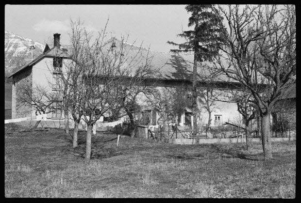 photographie - Propriété de Monsieur Davin : maison d'habitation et d'exploitation