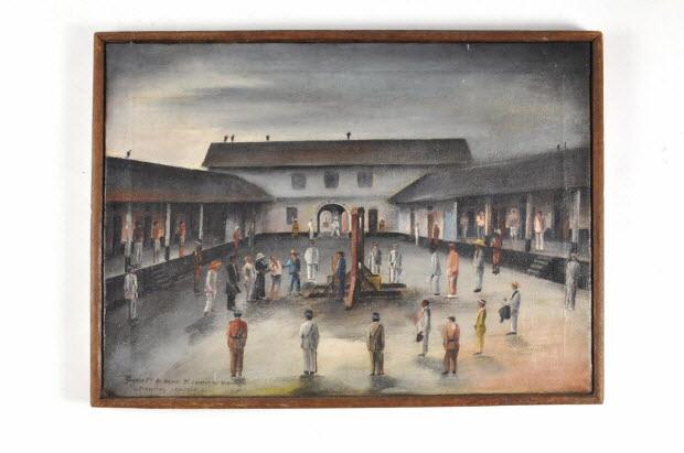 tableau - Guyane Fse. Au bagne de Saint-Laurent-du-Maroni. Exécution capitale
