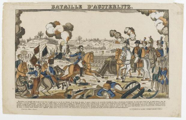 imagerie ancienne - BATAILLE D'AUSTERLITZ.