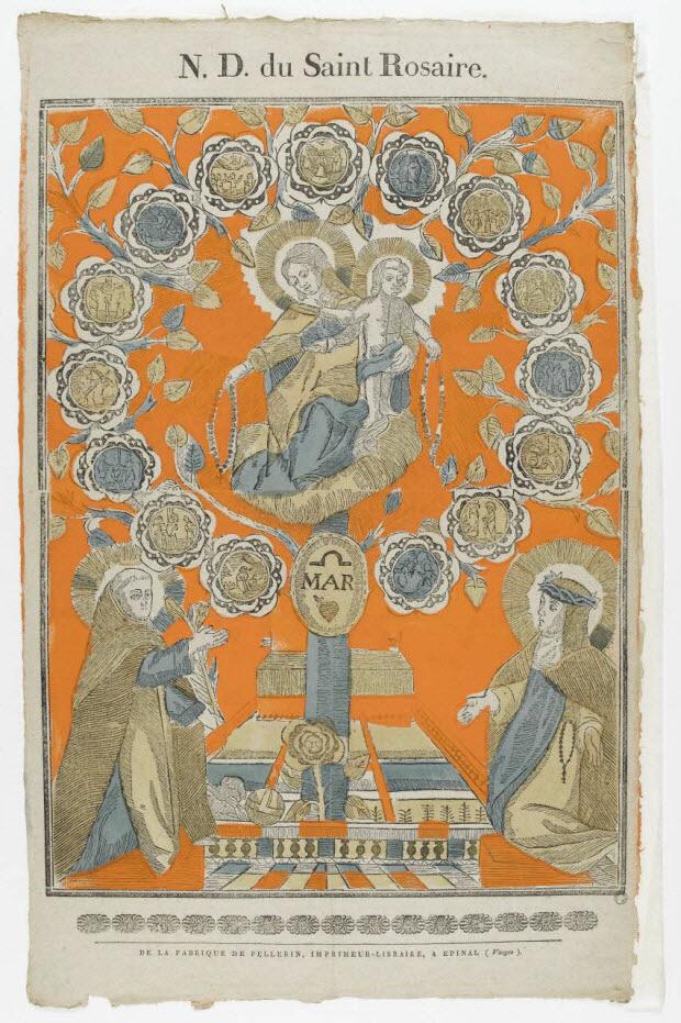 imagerie ancienne - N.D. du Saint Rosaire.