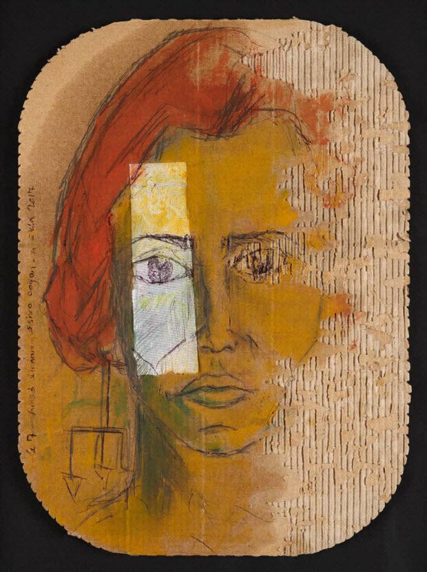 dessin - Portrait (Femme aux cheveux rouges)