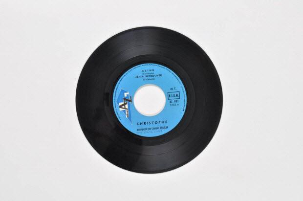 disque 45 tours - La fille aux yeux bleus
