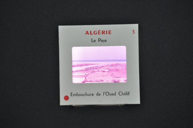 diapositive - Algérie. Embouchure de l'Oued Chélif