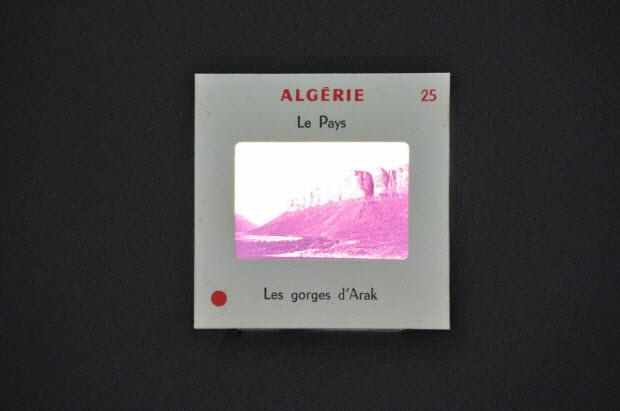 diapositive - Algérie. Les gorges d'Arak