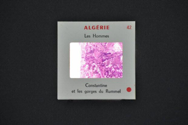 diapositive - Algérie. Constantine et les gorges du Rummel