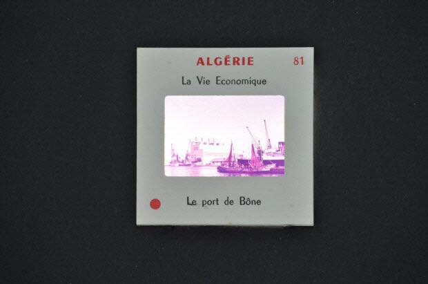 diapositive - Algérie. Le port de Bône