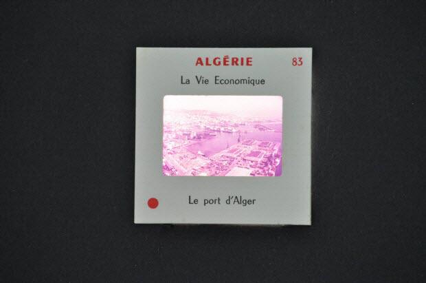diapositive - Algérie. Le port d'Alger