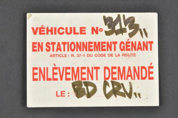 autocollant - Détournement d'une interdiction de stationner